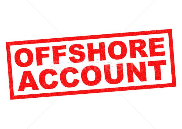Offshore rekening Rood witte geld Stockfoto © chrisdorney