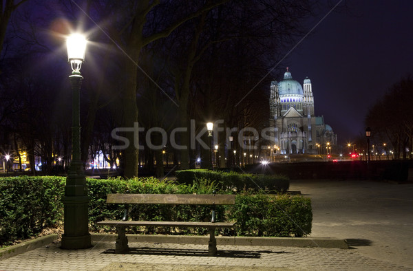 View of the Basilica of the Sacred Heart in Brussels from Parc E Stock photo © chrisdorney