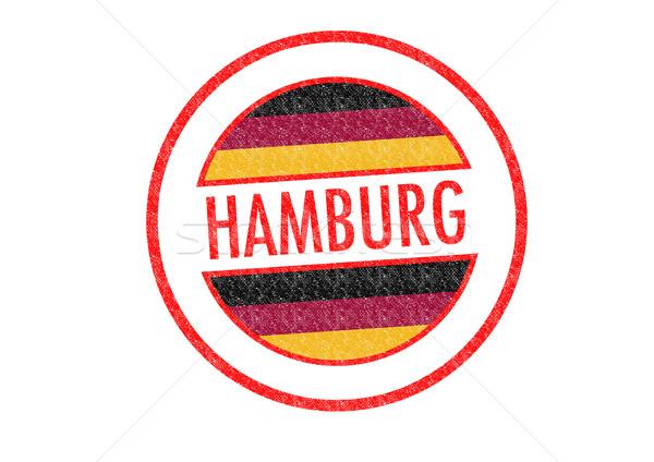 Amburgo bianco vacanze pulsante passaporto Foto d'archivio © chrisdorney