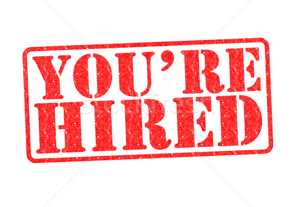 YOU'RE HIRED Rubber Stamp Stock photo © chrisdorney