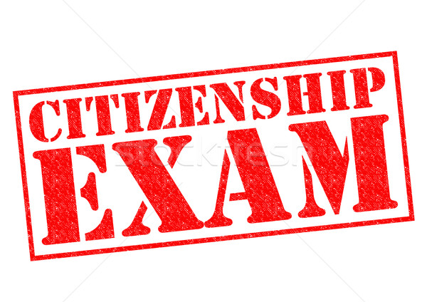 Vatandaşlık sınav kırmızı beyaz pasaport Stok fotoğraf © chrisdorney