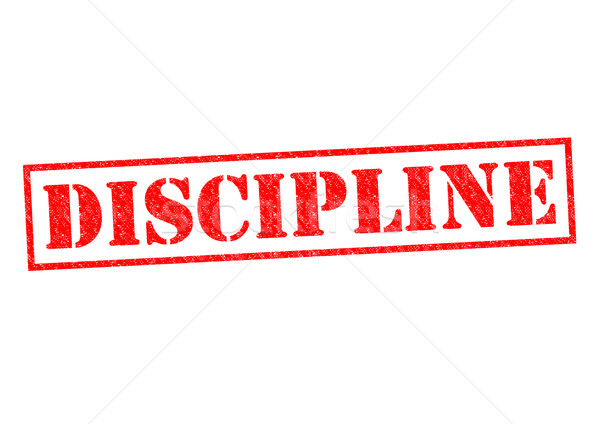 Discipline Rood witte brand werk Stockfoto © chrisdorney