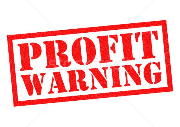 Nyereség figyelmeztetés piros pecsét fehér üzlet Stock fotó © chrisdorney