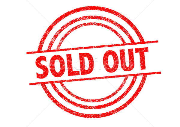 Stock photo: SOLD OUT Rubber Stamp