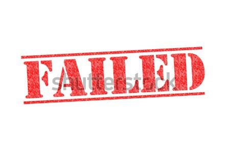 Stok fotoğraf: Başarısız · oldu · kırmızı · beyaz · eğitim · kolej
