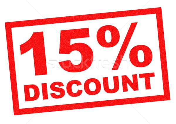 15% DISCOUNT Stock photo © chrisdorney