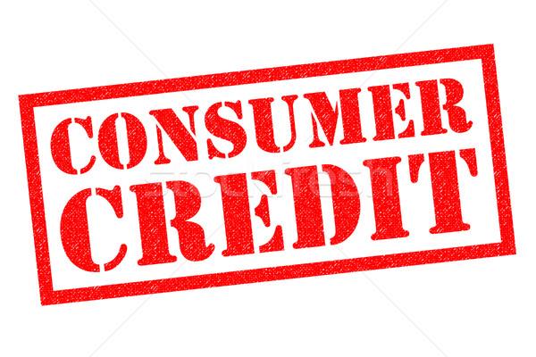 Tüketici kredi kırmızı beyaz para Stok fotoğraf © chrisdorney