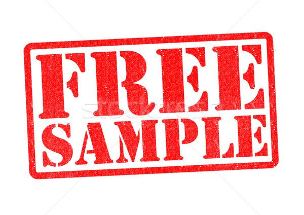 FREE SAMPLE Stock photo © chrisdorney