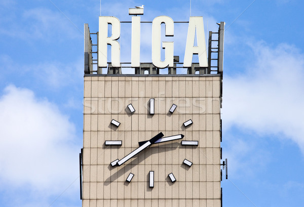 Central Clock in Riga Stock photo © chrisdorney