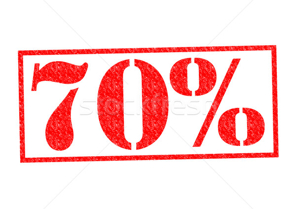 Stock photo: 70% Rubber Stamp