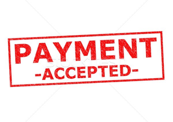 PAYMENT ACCEPTED Stock photo © chrisdorney