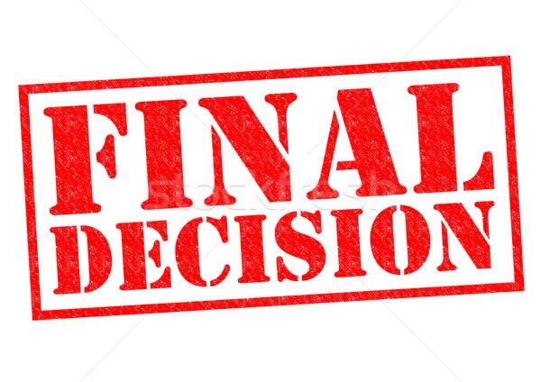 Final decisión rojo blanco juez Foto stock © chrisdorney