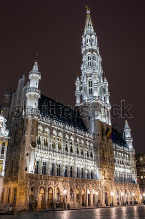 Brussels City Hall (Hotel de Ville) in Grand Place Stock photo © chrisdorney