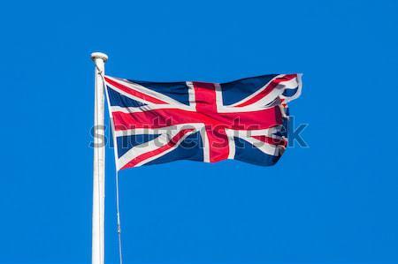 Unii banderą wielka brytania niebieski podróży wiatr Zdjęcia stock © chrisdorney