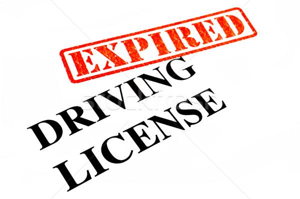 Conducción licencia coche autobús documento motor Foto stock © chrisdorney