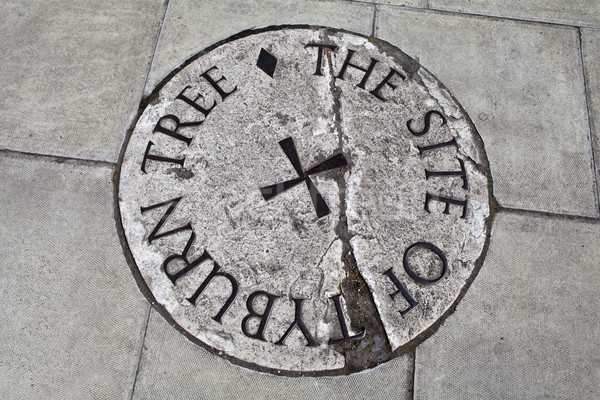 Tyburn Tree (Gallows) Plaque in London Stock photo © chrisdorney