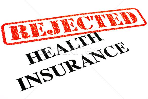 Seguro de salud primer plano documento oficina médicos documentos Foto stock © chrisdorney