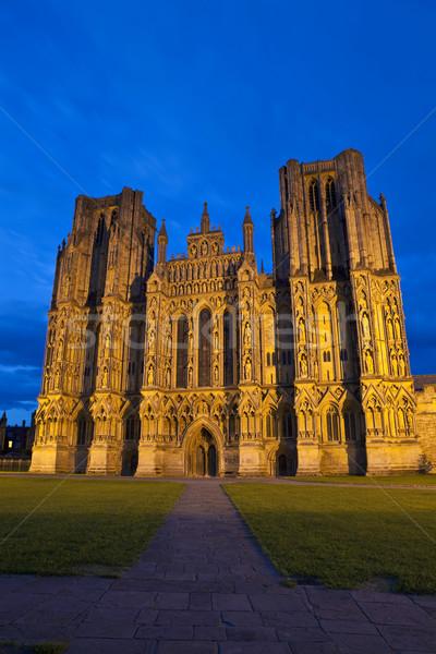 Katedry wspaniały podróży noc gothic kraju Zdjęcia stock © chrisdorney