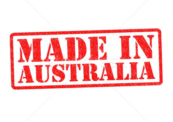Stock fotó: Ausztrália · pecsét · fehér · piros · épít · gumi