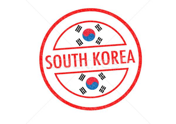 Coréia do Sul branco bandeira asiático Ásia Foto stock © chrisdorney