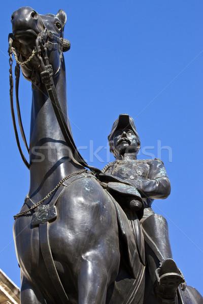 статуя парад Лондон военных Англии туристических Сток-фото © chrisdorney