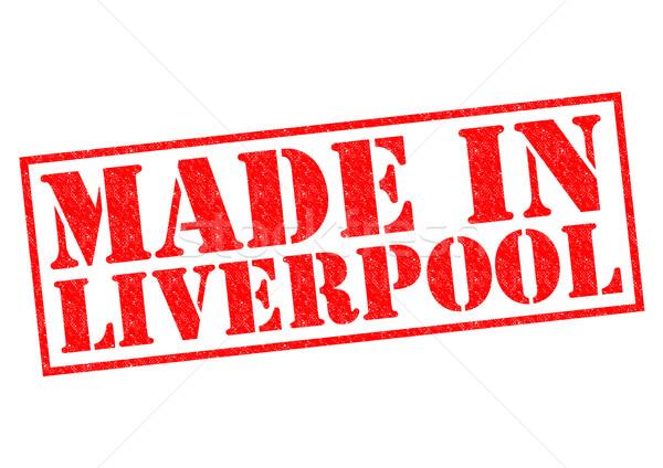Liverpool vermelho branco construir etiqueta Foto stock © chrisdorney