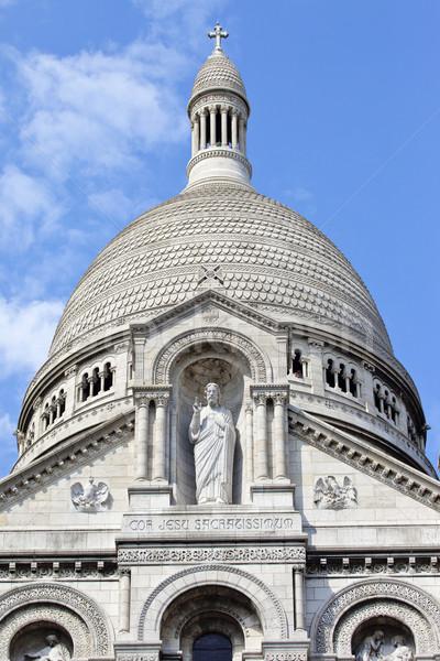 Párizs gyönyörű építészet Franciaország Jézus Isten Stock fotó © chrisdorney