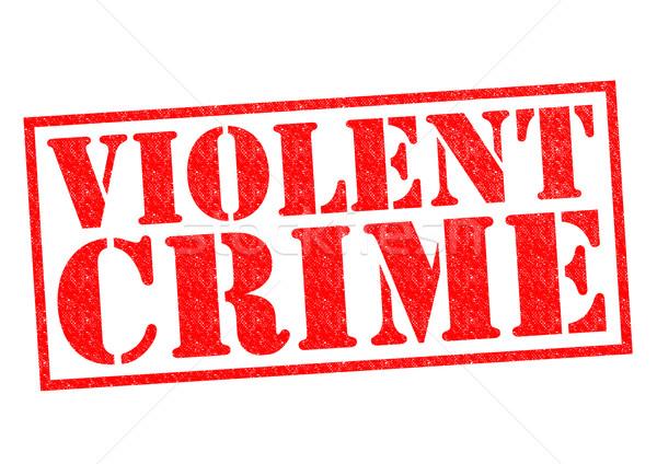 Violent crime rouge blanche police Photo stock © chrisdorney