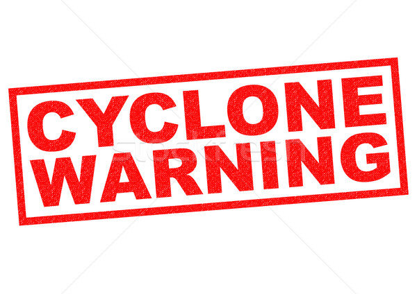 CYCLONE WARNING Stock photo © chrisdorney