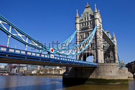 Tower Bridge Opened Up Over the River Thames Stock photo © chrisdorney