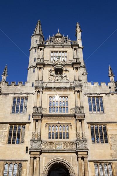 Biblioteca oxford torre cinco viviendas Inglaterra Foto stock © chrisdorney