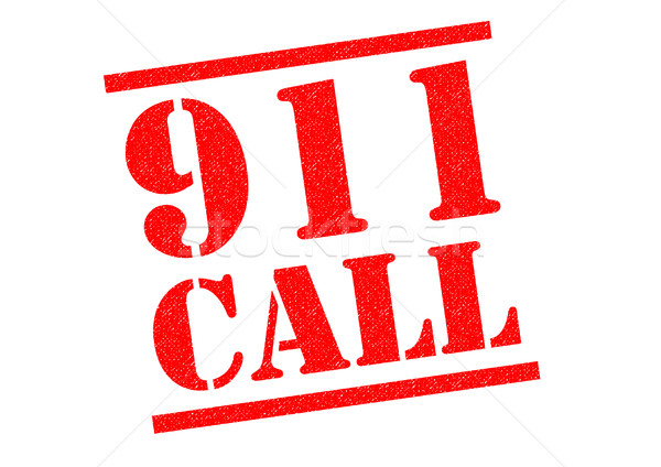 911 CALL Rubber Stamp Stock photo © chrisdorney