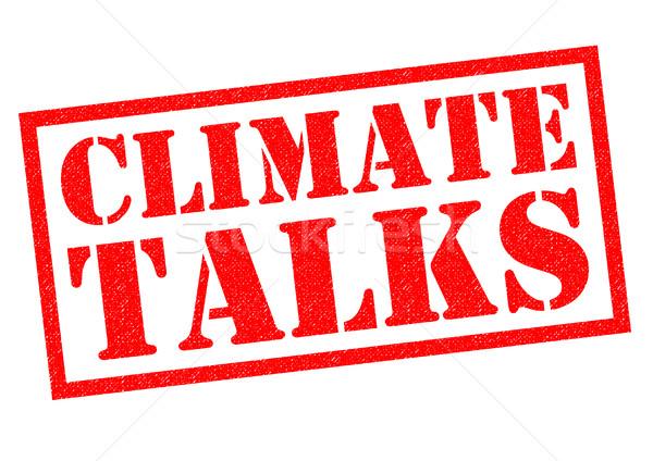 éghajlat piros pecsét fehér megbeszélés bélyeg Stock fotó © chrisdorney