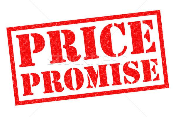 ár ígéret piros pecsét fehér üzlet Stock fotó © chrisdorney