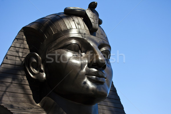 Sphinx at Cleopatra's Needle in London Stock photo © chrisdorney