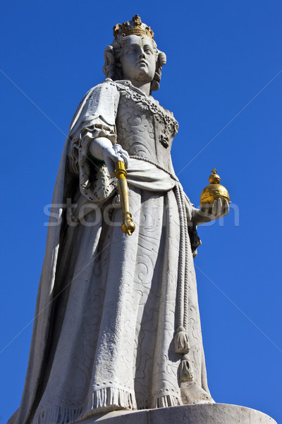 Queen Anne Statue at St. Paul's Cathedral in London Stock photo © chrisdorney