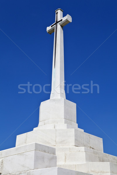 Stock photo: Cross of Sacrifice at Tyne Cot Cemetery in Ypres