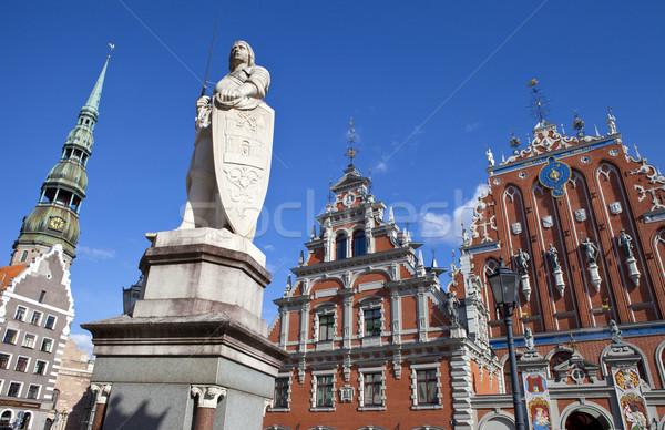 Huis kerk historisch standbeeld oude binnenstad Stockfoto © chrisdorney