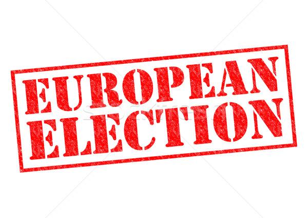 ヨーロッパの 選挙 赤 白 ユーロ ストックフォト © chrisdorney