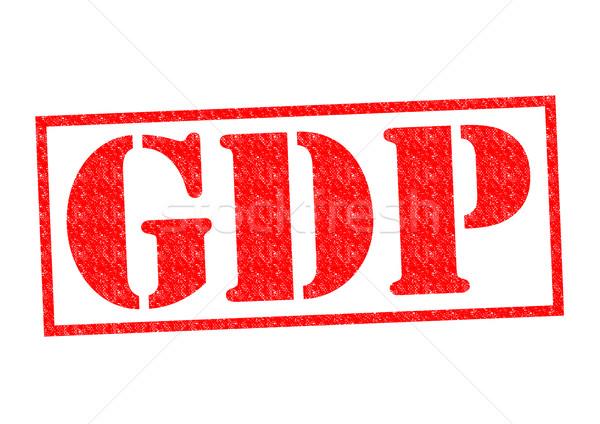 GDP Rubber Stamp Stock photo © chrisdorney