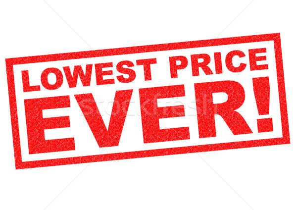 Preço vermelho branco compras compras Foto stock © chrisdorney