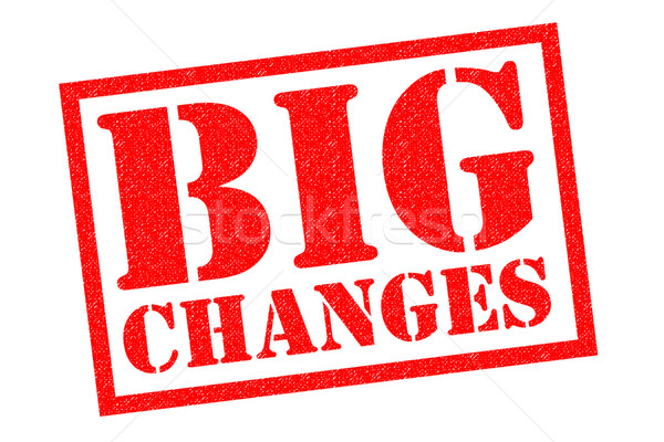 BIG CHANGES Rubber Stamp Stock photo © chrisdorney