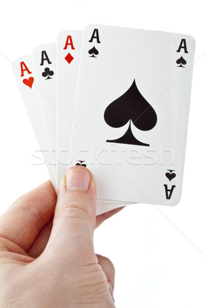 Holding Four Aces Stock photo © chrisdorney