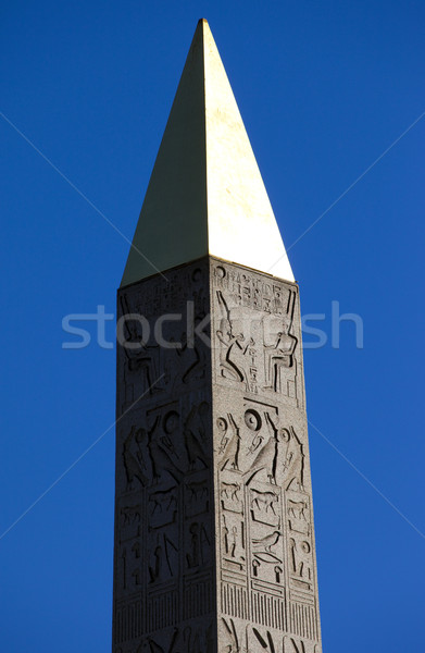 Obelisk at Place de la Concorde, Paris Stock photo © chrisdorney