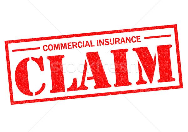 коммерческих страхования утверждать красный белый Сток-фото © chrisdorney