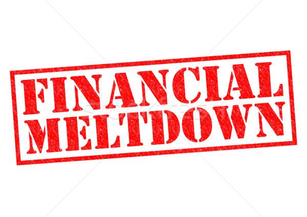 FINANCIAL MELTDOWN Stock photo © chrisdorney