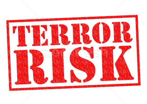 Terrore rischio rosso bianco guerra Foto d'archivio © chrisdorney