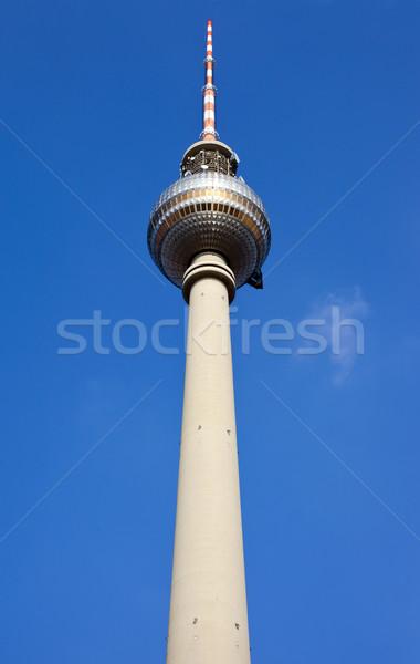 Fernsehturm tv torony Berlin Németország építészet Stock fotó © chrisdorney