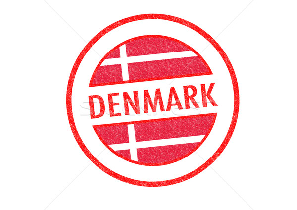 Dánia pecsét fehér zászló Euro Európa Stock fotó © chrisdorney