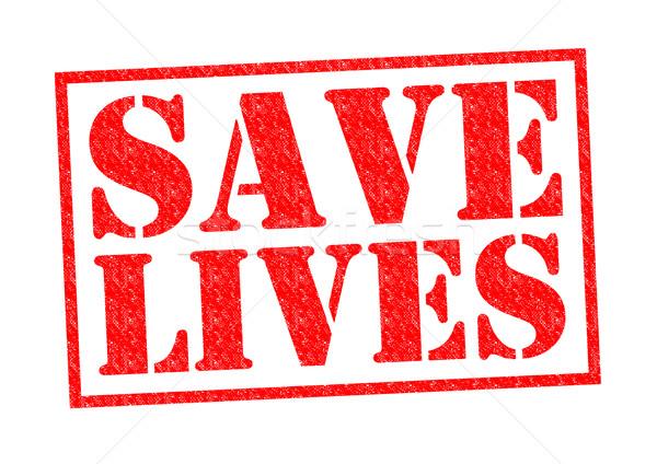 Salvar vermelho branco amor médico Foto stock © chrisdorney